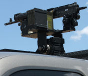 Camera and Machine Gun mount.